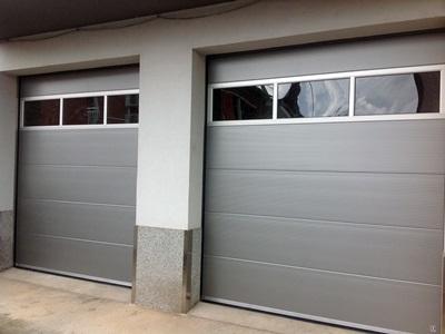 Puertas seccionales acristaladas krode puertas for Puertas acristaladas interior
